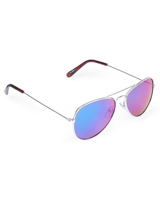 Unisex Kids Metal Aviator Sunglasses