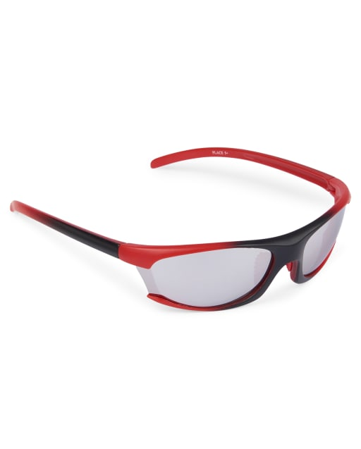 Boys Ombre Sport Wrap Sunglasses