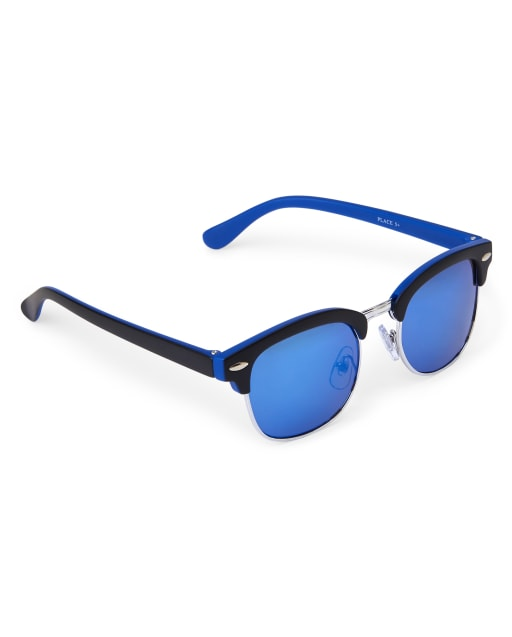 Boys Mix Frame Retro Sunglasses