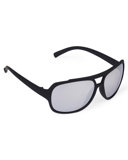 Boys Rubberized Aviator Sunglasses