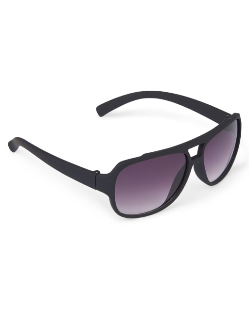 Toddler Boys Rubberized Aviator Sunglasses