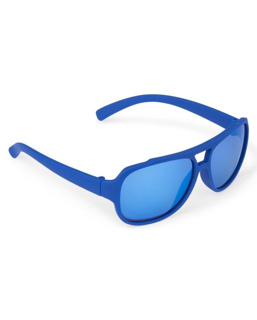 Toddler Boys Rubberized Aviator Sunglasses