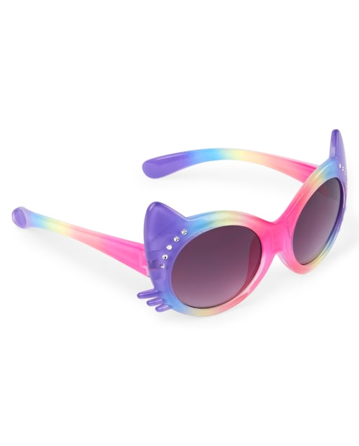 Toddler Girls Faceted Cat Sunglasses