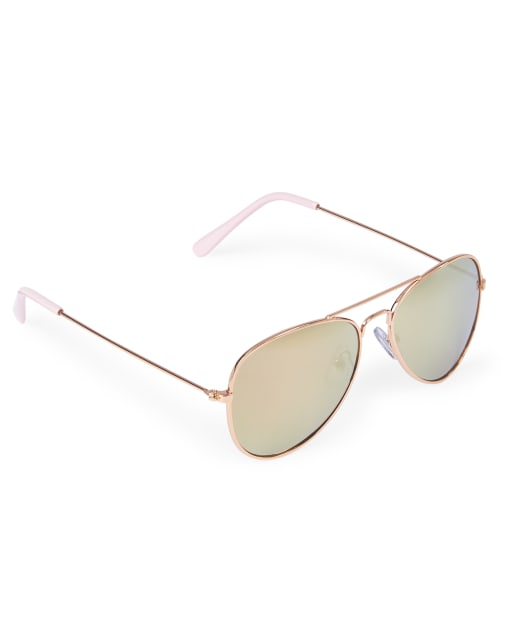 Girls Metal Aviator Sunglasses