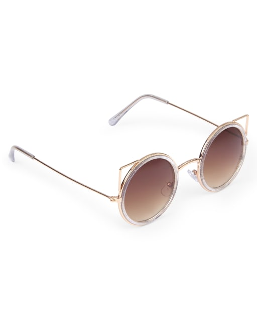 Girls Metal Cat Eye Sunglasses
