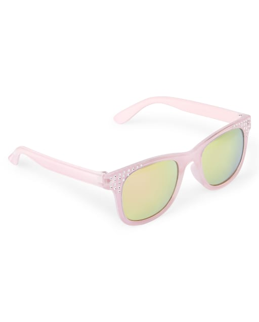 Girls Faceted Retro Sunglasses