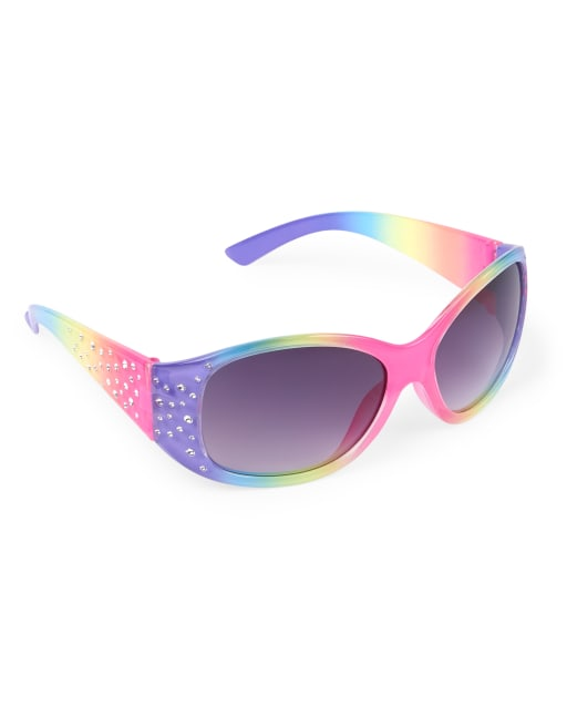 Girls Faceted Oval Sunglasses