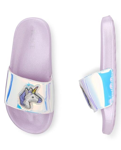 Girls Holographic Unicorn Faux Leather