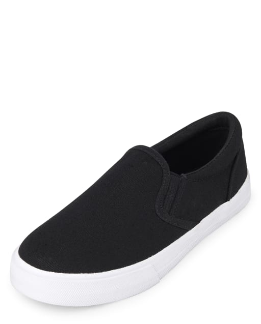 Boys Uniform Canvas Slip On Sneakers