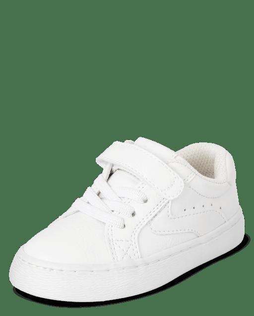 Toddler Boys Uniform Faux Lace Faux Leather Low Top Sneakers