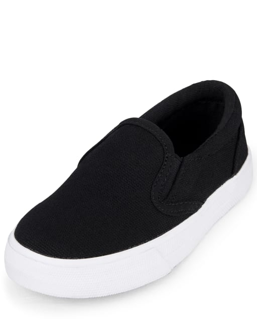 Toddler Boys Uniform Canvas Slip On Sneakers