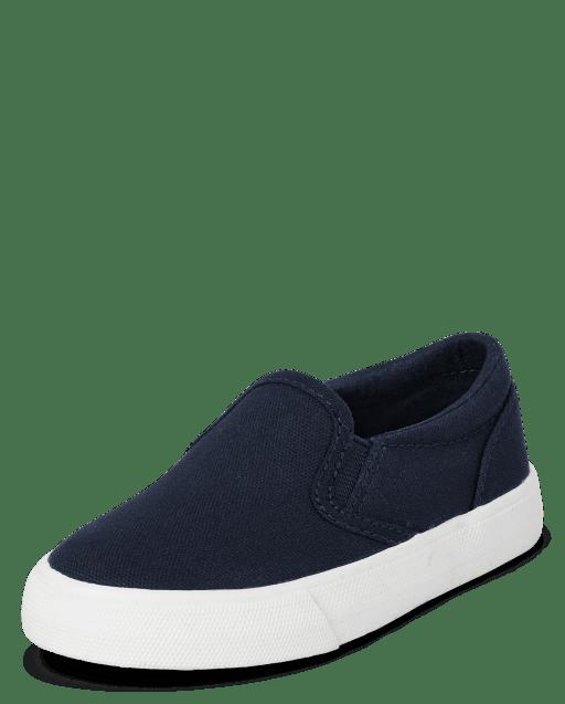 Zapatillas sin cordones de lona de uniforme para niños pequeños