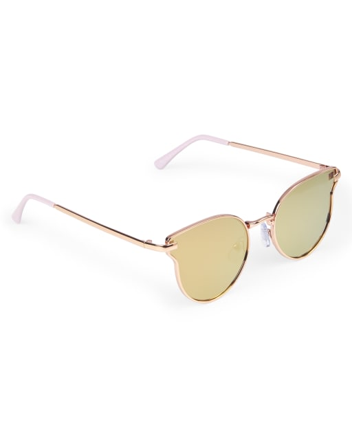 Girls Curved Cat Eye Sunglasses