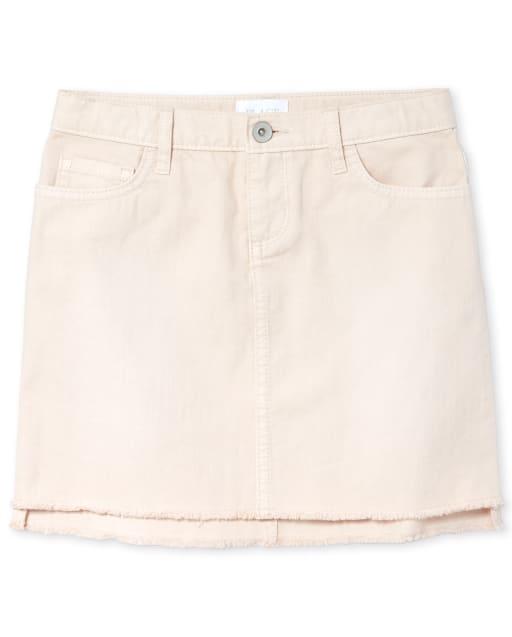 Girls Step Hem Denim Skirt