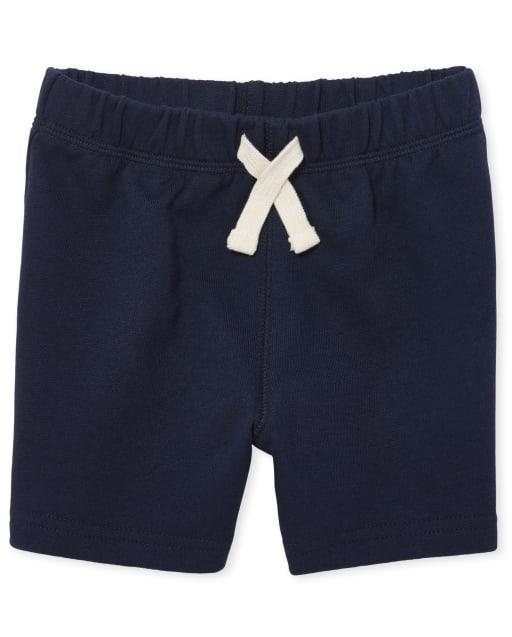 Pantalones cortos de felpa francesa de uniforme para bebés y niños pequeños