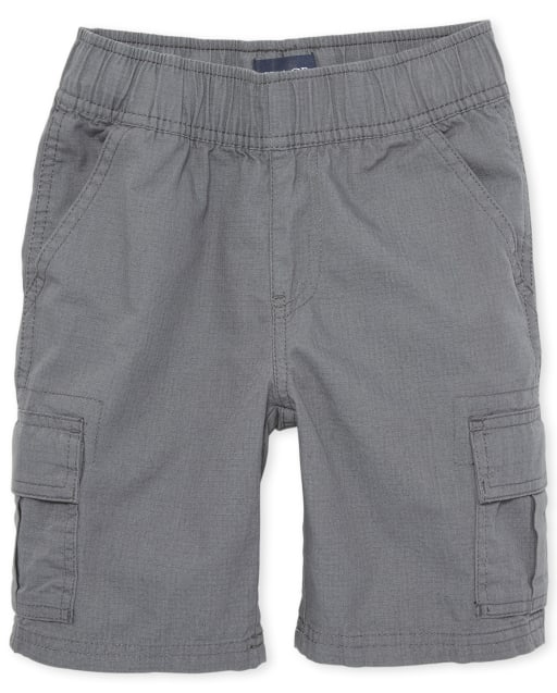 Boys Uniform Woven Pull On Cargo Shorts