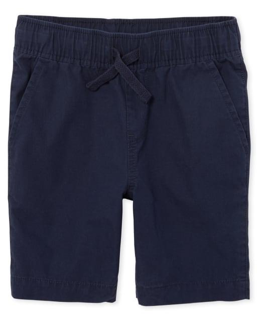 Boys Uniform Woven Pull On Jogger Shorts