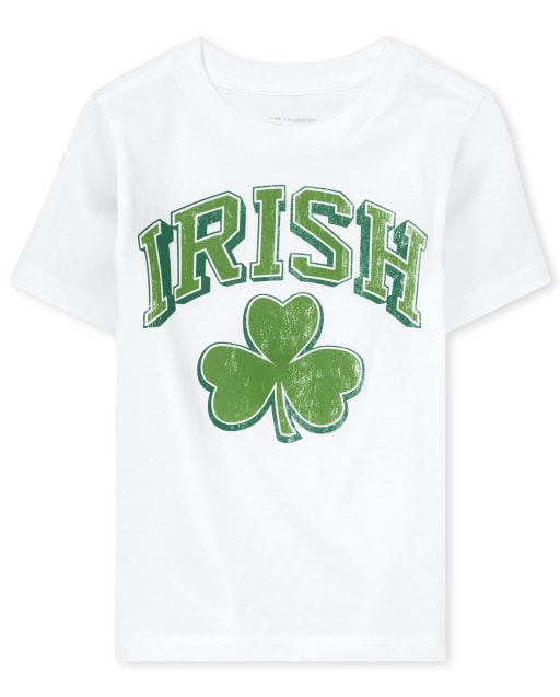 Unisex Baby And Toddler St. Patrick's Day Short Sleeve 'Irish' Shamrock Graphic Tee