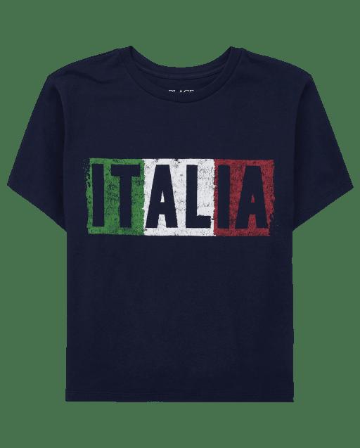 Camiseta estampada Italia para niños