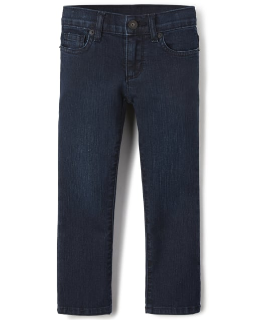 Girls Basic Bootcut Jeans - Super Dark Wash