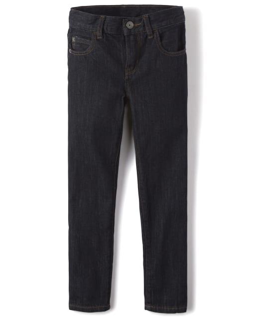 Boys Basic Skinny Jeans - Dark Rinse Wash
