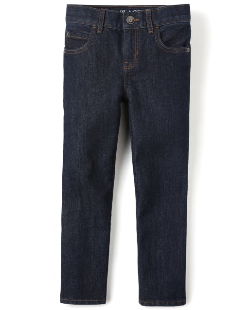 Boys Basic Straight Jeans - Dark Rinse Wash