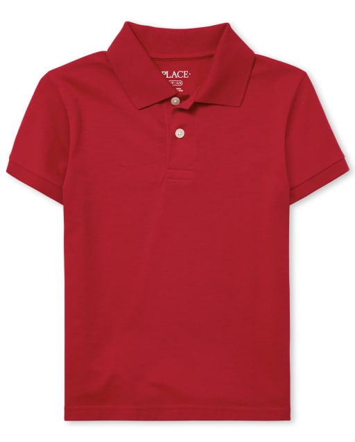 Boys Uniform Short Sleeve Soft Jersey Polo