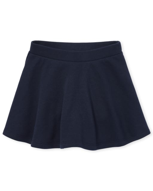 Falda pantalón de felpa francesa activa de uniforme para niñas pequeñas