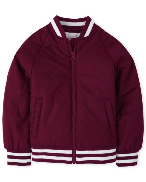 Girls Uniform Long Sleeve Bomber Jacket