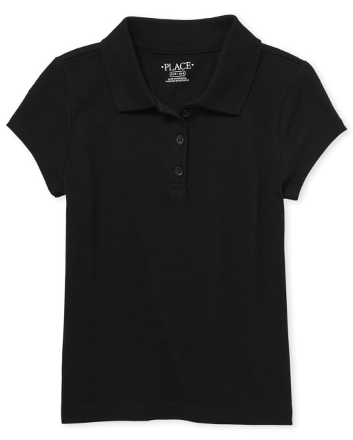 Girls Uniform Short Sleeve Soft Jersey Polo