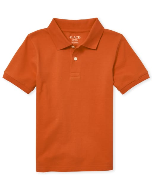 Boys Uniform Short Sleeve Pique Polo