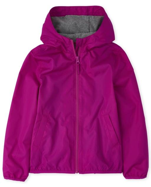 Girls Uniform Long Sleeve Windbreaker Jacket