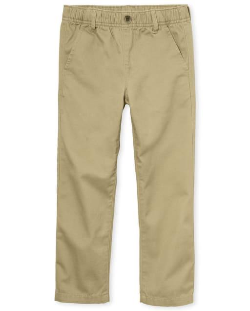 Pantalones chinos de tirantes tejidos y uniformes para niños