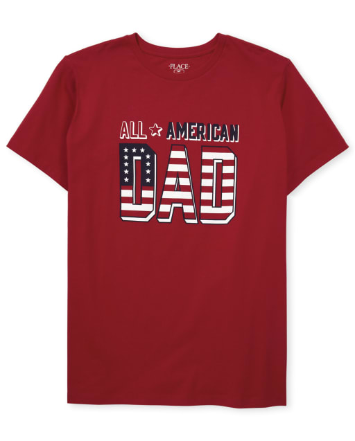 Mens Matching Family Americana Short Sleeve 'All American' Graphic Tee