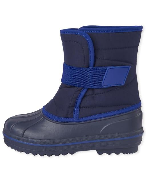 Boys Canvas Snow Boots