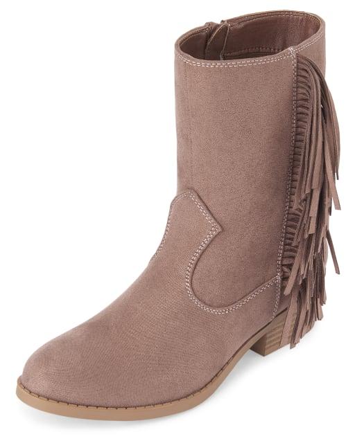 girls fringe boots