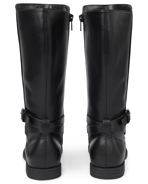 girls tall leather boots