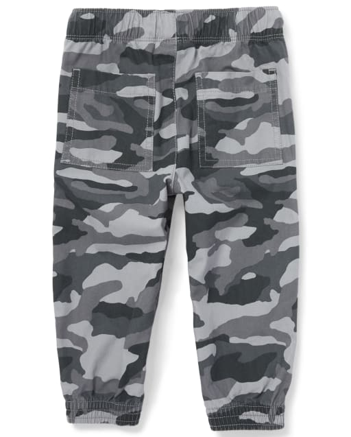 Quad Seven Toddler Boys/' Twill Joggers Pants Camouflage 2T NWT