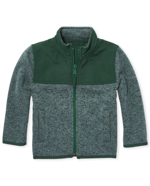 Toddler Boys Sweater Fleece Trail Jacket