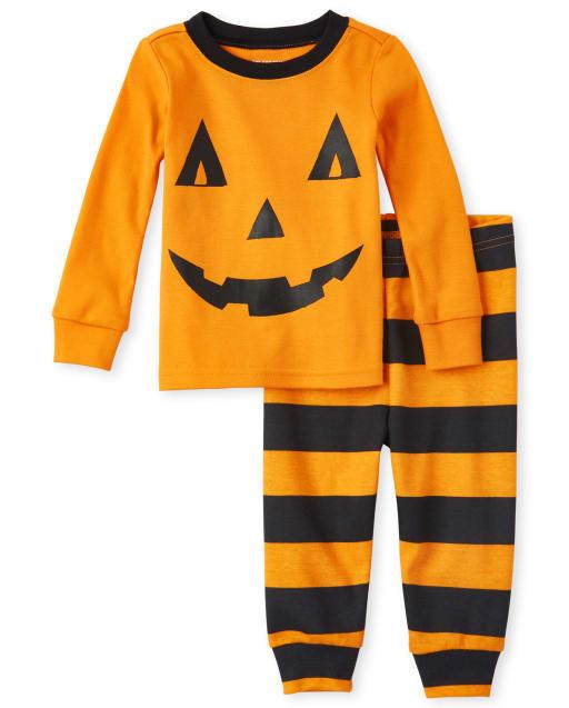 Unisex Baby And Toddler Halloween Long Sleeve Pumpkin Snug Fit Cotton Pajamas