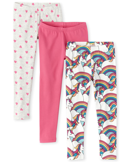 The Childrens Place Girls Baby Novelty Rainbow Printed Leggings