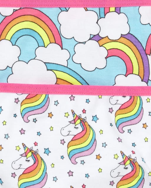 GIRLS 7 PACK RAINBOW BRIEFS KNICKERS AGE 5-6 YEARS NEW RAINBOW GIFT PRESENT