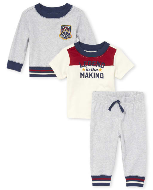 Baby Boys 'Legend In The Making' 3-Piece Playwear Set
