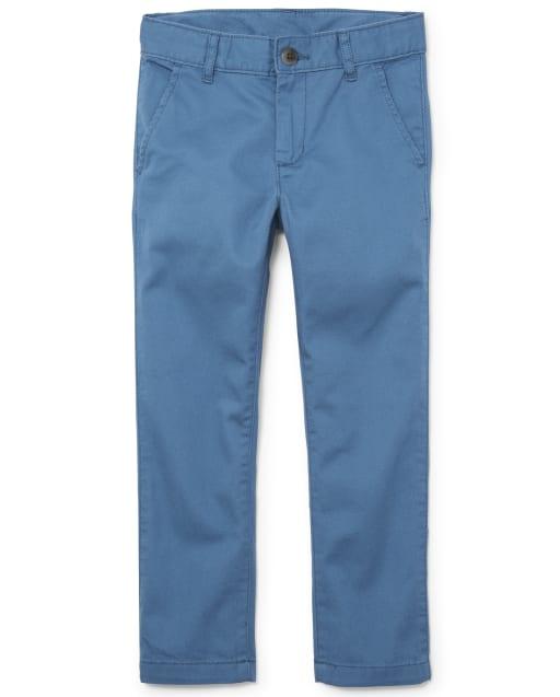 Boys Uniform Woven Stretch Skinny Chino Pants