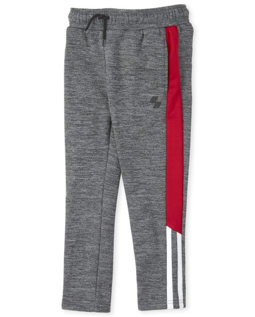 Boys PLACE Sport Marled Side Stripe Performance Fleece Pants