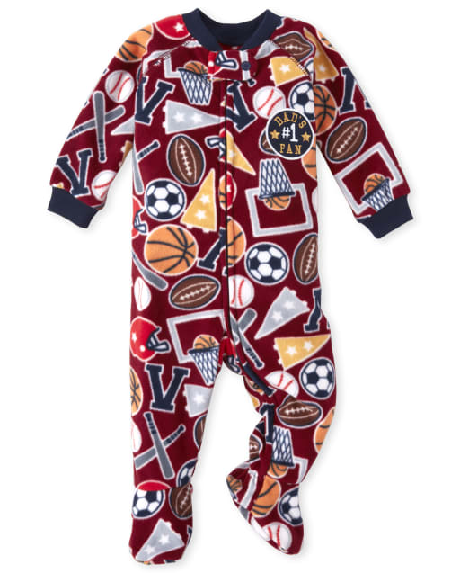 The Childrens Place Boys Printed One Piece Sleeper