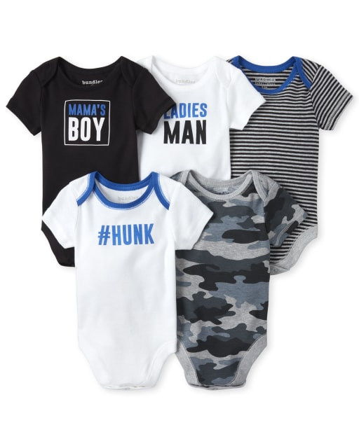US MAMA/'S BOY Newborn Toddler Kids Baby Boys Clothes T Shirt Round Neck Clothes