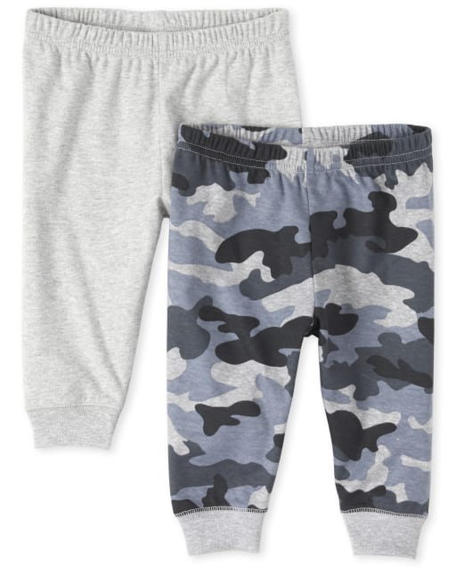 Baby Boys Camo Pants 2-Pack