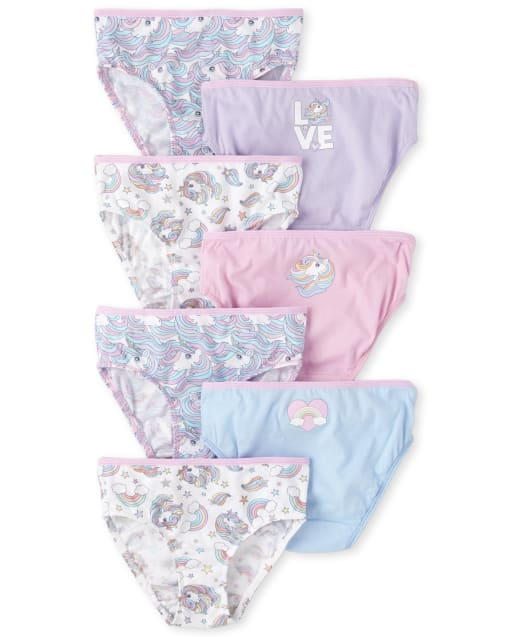Toddler Girls Unicorn Briefs 7-Pack