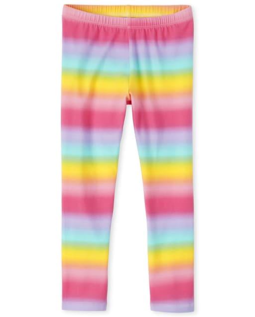 Girls Rainbow Leggings